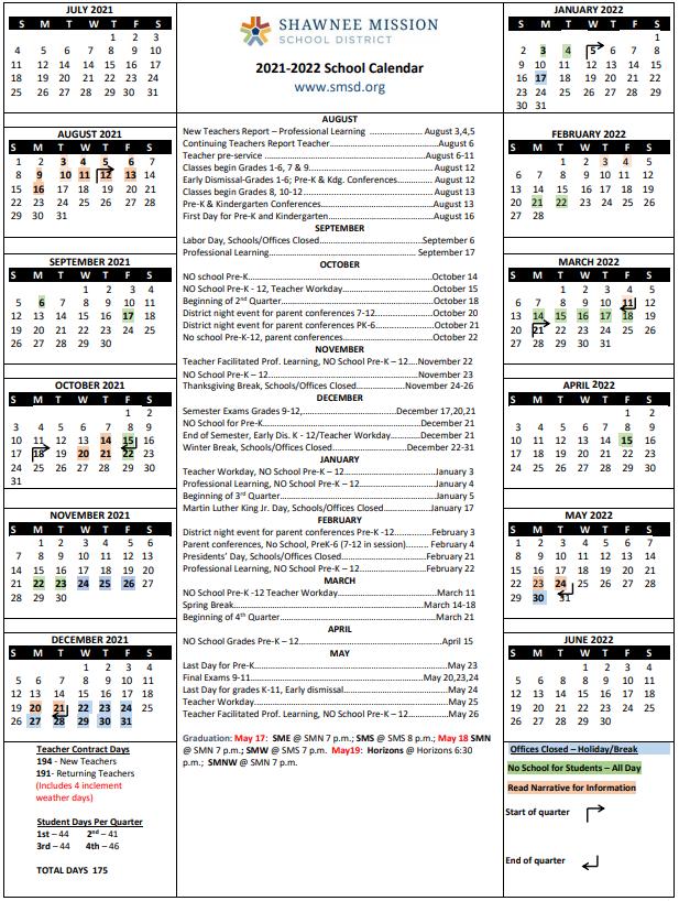 Sbisd Calendar 2022.Smsd Calendar
